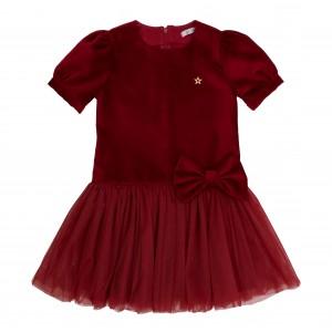 Linda S Burgundy Velvet Dress