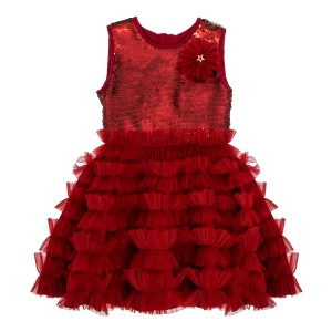 Audrey Burgundy Sequin Dress