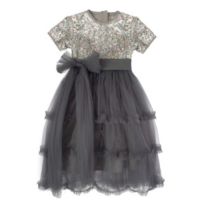 Grace Silver Long Tulle Dress