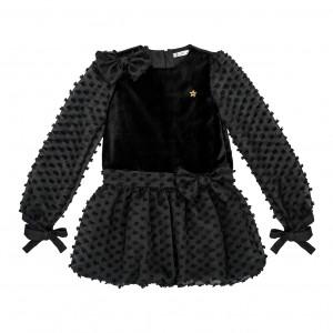 Juliette Black Velvet Dress
