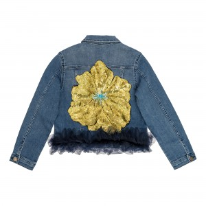 Clementine Yellow Flower Jacket