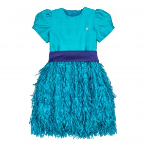 Karlie Blue Silk Dress