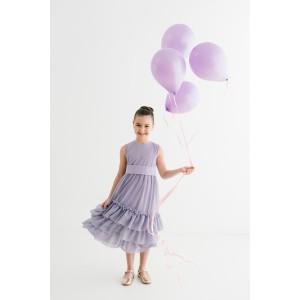 Arina Purple Long Dress