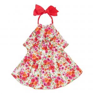 Laetizia Pink Flower Print Dress