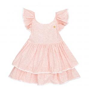 Lilly Salmon Linen Dress