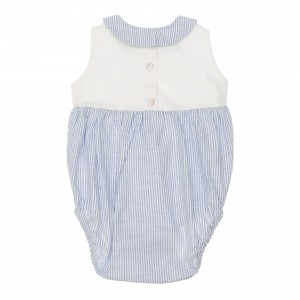 Leo Blue and White Striped Linen Shortie