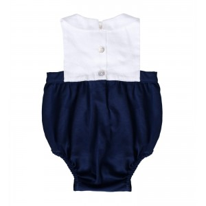 Alain Linen and Cotton Navy Shortie