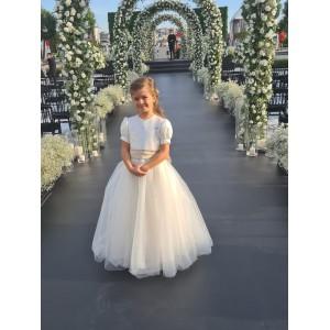 Marilyn White Long Tulle Dress
