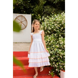Lela White Linen Dress