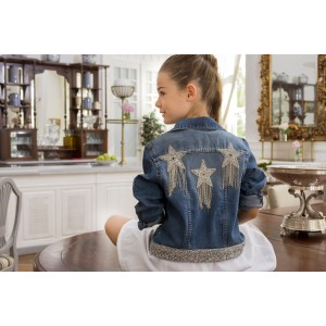 Silver Denim Jacket