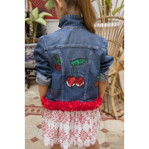 Cherries Denim Jacket