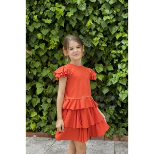 Juin Top & Jule Skirt Orange