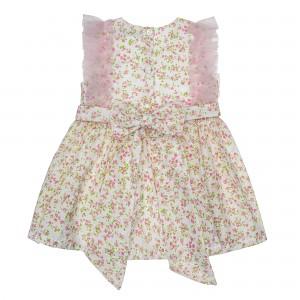 Floral Soft Pink Tulle Dress