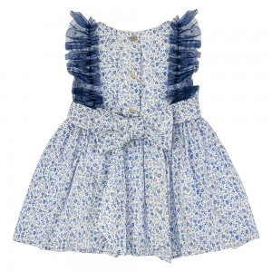 Floral Navy Tulle Dress