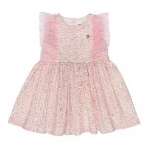 Floral Pink Tulle Dress