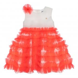 Audrey Neon Orange Dress