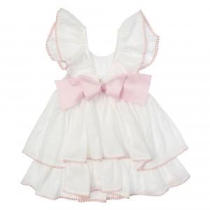 Lilly Pink Linen Dress