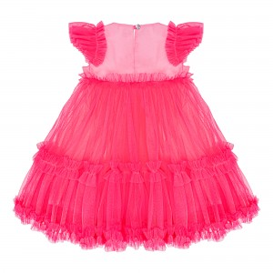 Sofia Neon Pink Tulle Dress