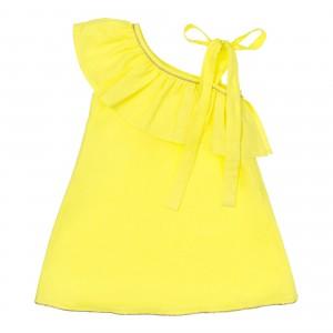 Vallerie Neon Yellow Linen Dress