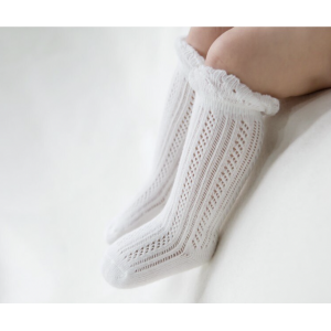 Derry White Long Socks