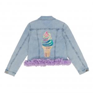Mia Denim Purple Jacket