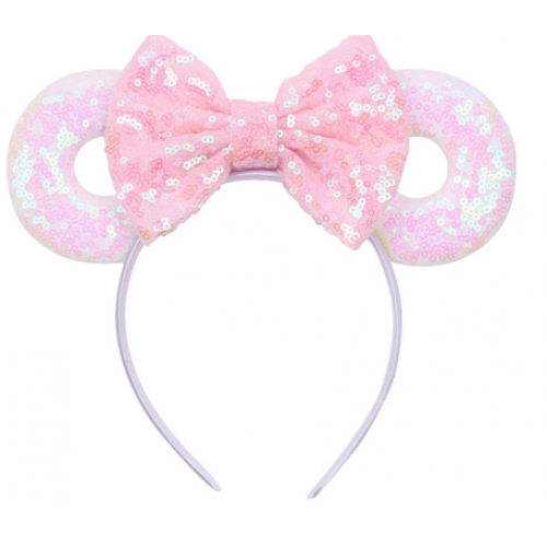 Mickey White and Pink Hairband