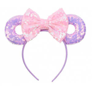 Mickey Purple and Pink Hairband
