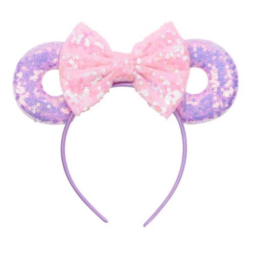 Mickey Purple and Pink Hairband