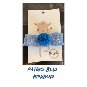 Patrice Blue Elastic Hair Band