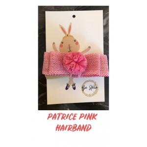 Patrice Pink Elastic Hair Band