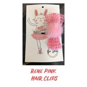 Rene Pink Hair Clip