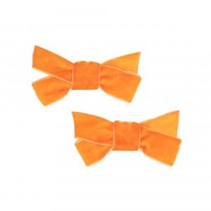 Sarah Orange Hair Clips