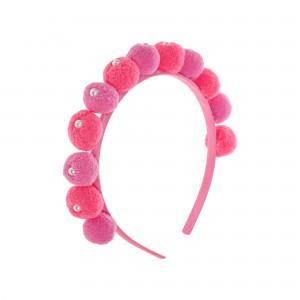 Jenny Pink Pompom Hairbands