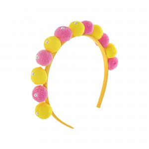 Jenny Pink and Yellow Ponpon Hairbands
