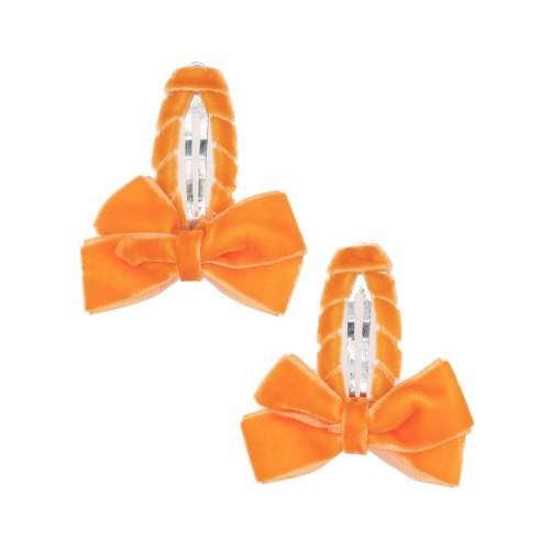 Louise Orange Hair Clips