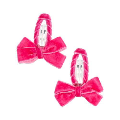 Louise Dark Pink Hair Clips