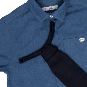 Alban Dark Denim Shirt
