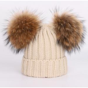 Jolie Beige Pompom Hat