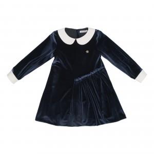 Vesta Anthracite Velvet Dress