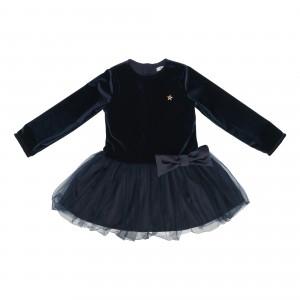 Linda Navy Velvet Dress