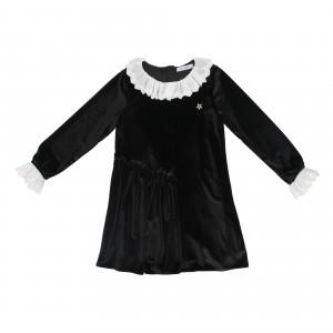 Rita Black Velvet Dress