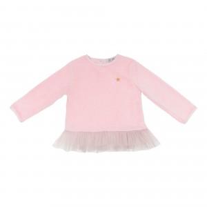 Carla Pink Velvet Top